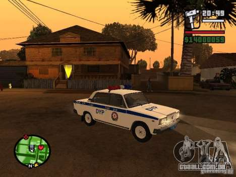 DYP 2107 police para GTA San Andreas