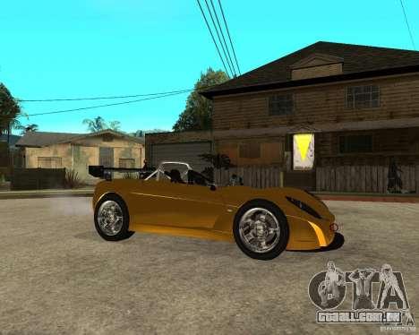 Lotus 2-Eleven para GTA San Andreas vista direita