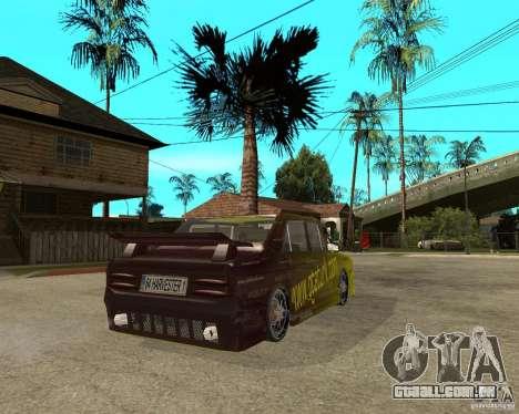 Anadol GtaTurk Drift Car para GTA San Andreas traseira esquerda vista