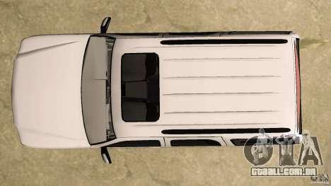 Cadillac Escalade para GTA Vice City vista superior