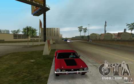Ford Maverick GT 1975 para GTA Vice City vista traseira esquerda