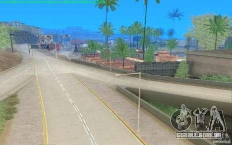 Estradas concretas de Los Santos Beta para GTA San Andreas por diante tela