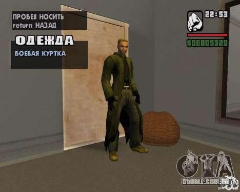 Roupas de um stalker para GTA San Andreas sétima tela