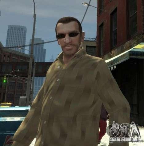 Novos óculos para Niko-escuro para GTA 4 segundo screenshot