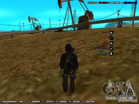 Traficante de drogas para GTA San Andreas por diante tela