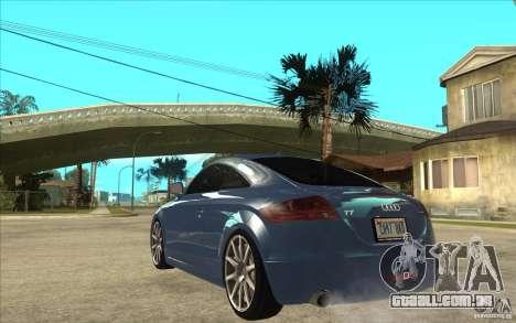 Audi TT 3.2 Coupe para GTA San Andreas traseira esquerda vista
