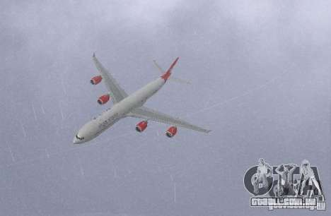 Airbus A340-600 Virgin Atlantic para GTA San Andreas esquerda vista