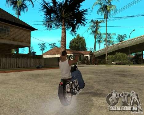 C&C chopeur para GTA San Andreas traseira esquerda vista