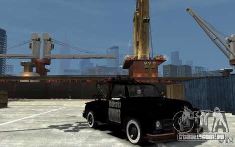 Black Towtruck para GTA 4 vista de volta