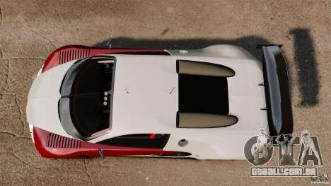 Bugatti Veyron 16.4 Body Kit Final Stock para GTA 4 vista direita