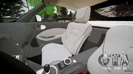 Nissan 370Z Coupe 2010 para GTA 4 vista interior
