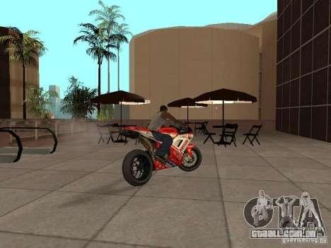 Ducati 1198R para GTA San Andreas esquerda vista