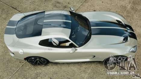 SRT Viper GTS 2013 para GTA 4 vista direita