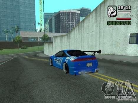 Mitsubishi Eclipse Tunning para GTA San Andreas traseira esquerda vista