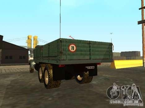 Mesa de caminhão KrAZ v. 2 para GTA San Andreas traseira esquerda vista