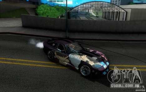 Dodge Viper GTS Coupe TT Black Revel para GTA San Andreas vista superior