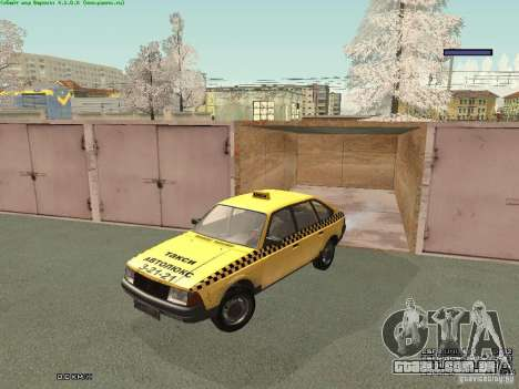 AZLK Moskvich 2141 táxi v2 para GTA San Andreas vista inferior