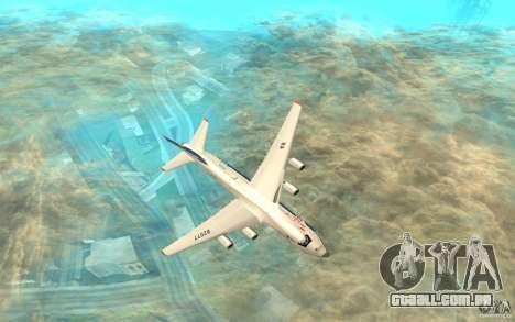 O an-124 Ruslan para GTA San Andreas traseira esquerda vista