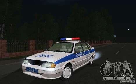 VAZ 2115 polícia DPS para GTA San Andreas vista traseira