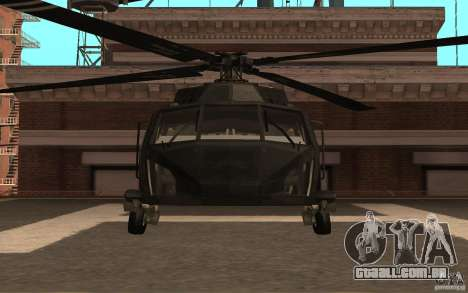 Black Hawk from BO2 para GTA San Andreas esquerda vista