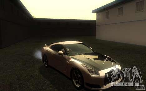 Nissan GTR R35 Spec-V 2010 para GTA San Andreas vista traseira