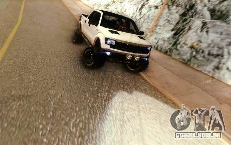 Ford F-150 Carryer Metal Mulisha para GTA San Andreas vista traseira