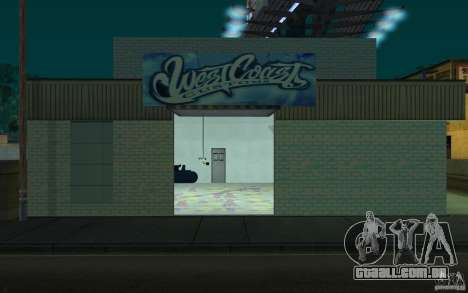 west coast coustoms para GTA San Andreas segunda tela