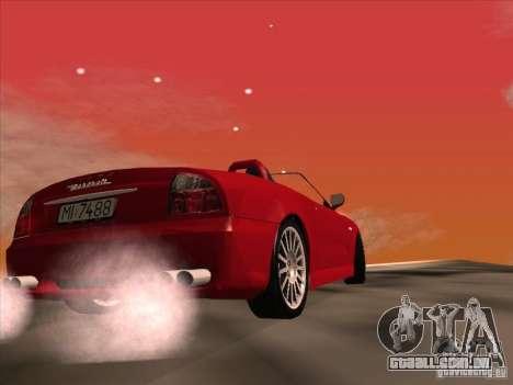 Maserati Spyder Cambiocorsa para GTA San Andreas vista interior