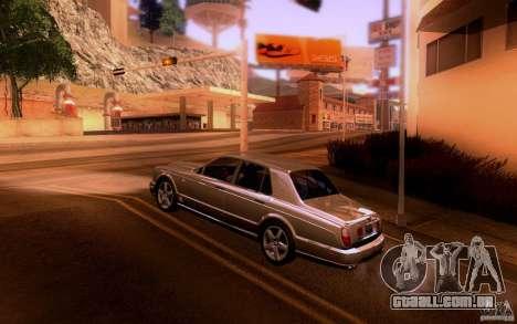 Bentley Arnage para GTA San Andreas traseira esquerda vista