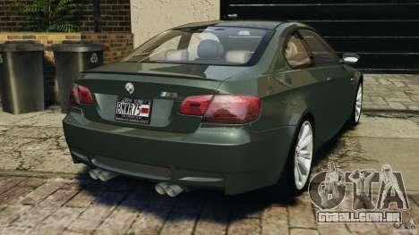 BMW M3 E92 2007 v1.0 [Beta] para GTA 4 traseira esquerda vista