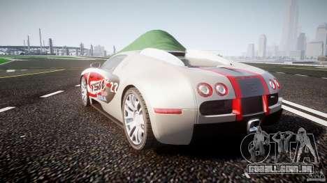 Bugatti Veyron 16.4 v1 para GTA 4 vista lateral