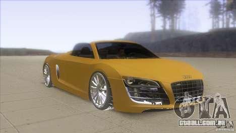 Audi R8 5.2 FSI Spider para GTA San Andreas vista traseira