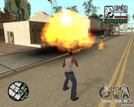Explosão para GTA San Andreas terceira tela