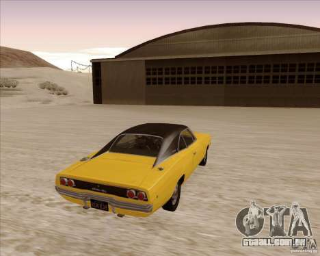 Dodge Charger RT 1968 Bullit clone para GTA San Andreas vista direita