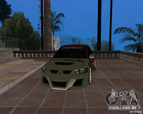Mitsubishi Lancer Evolution VIII para vista lateral GTA San Andreas