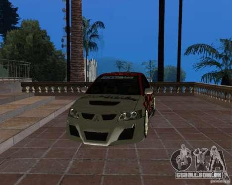 Mitsubishi Lancer Evolution VIII para vista lateral GTA San Andreas