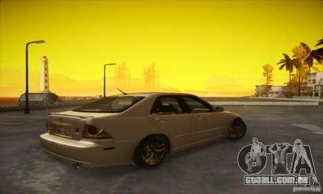 Lexus IS 300 para GTA San Andreas traseira esquerda vista