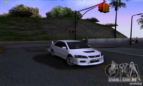 Mitsubishi Lancer Evolution IX 2006 para GTA San Andreas vista direita