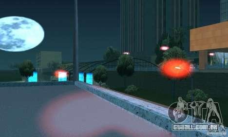 Luzes vermelhas para GTA San Andreas quinto tela