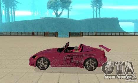 Honda S2000 The Fast and Furious para GTA San Andreas traseira esquerda vista