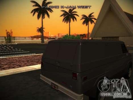 GMC Vandura para GTA San Andreas vista traseira