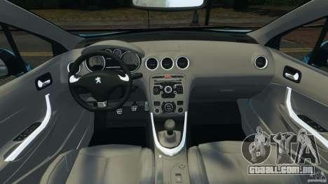 Peugeot 308 GTi 2011 v1.1 para GTA 4 vista de volta