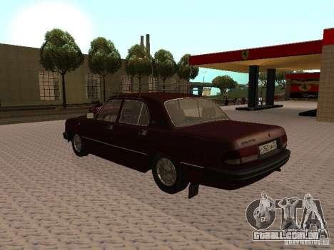 GAZ 3110 VOLGA v 1.0 para GTA San Andreas traseira esquerda vista