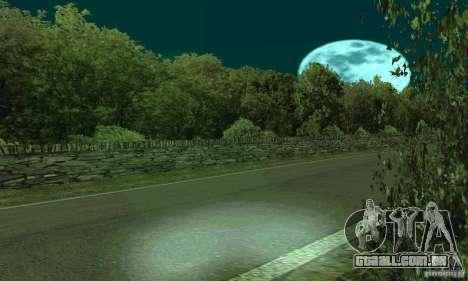 A rota do rali para GTA San Andreas segunda tela