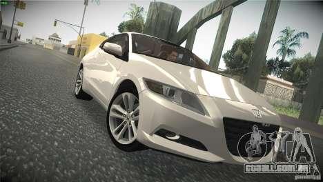 Honda CR-Z 2010 V1.0 para GTA San Andreas vista interior