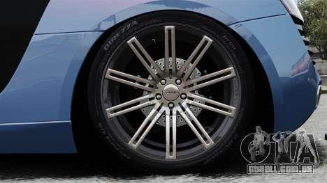 Audi R8 para GTA 4 vista de volta