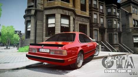 BMW M6 v1 1985 para GTA 4 traseira esquerda vista