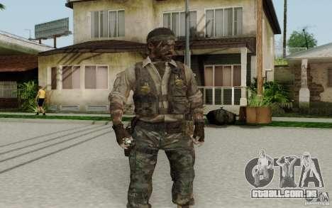 Frank Woods para GTA San Andreas segunda tela