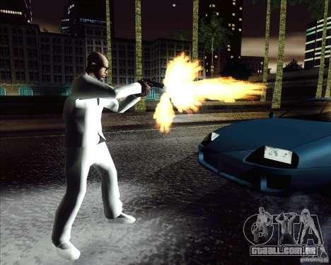 Traje branco para GTA San Andreas terceira tela