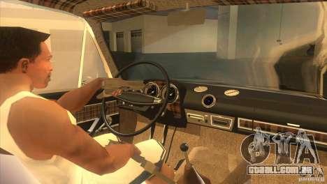 Resto de 2103 VAZ para GTA San Andreas vista interior